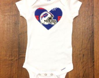 Buffalo Bills Girls Bodysuit or Toddler Shirt