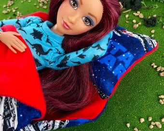 Doll Sleeping Bag for Barbie, Monster High, Liv and other 10 to12 inch Dolls - Licensed Stars Wars Print