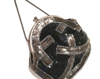 Art Deco Sequin Purse Made In France
