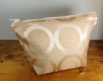Large Make Up Bag, Large Cosmetic Bag, Zippered Tote