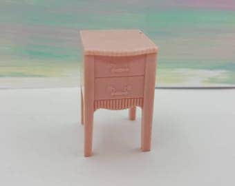 RESERVED A Renwal  Night stand  Toy Dollhouse Traditional Style pink nursery
