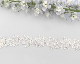 Leaf lace wedding belt, leaf lace wedding sash, lace wedding belt