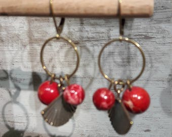 Imperial red Jasper Earrings