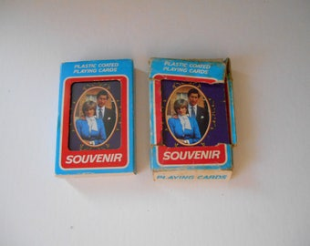 2 Vintage Playing Cards full deck 52 decorated vintage Cards New Bond  Playing Cards
