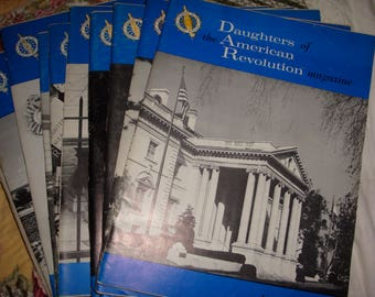 DAR 1967 Daughters of the American Revolution 12 magazines complete set