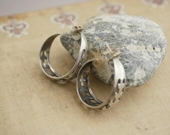 Decorative Earrings Sterling Silver Hoop Earrings Sterling Earrings BV16