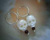 Carved Pearl Skulls