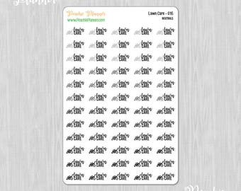 Lawn Care, Rainbow Neutrals - 60 Functional Planner Stickers    016