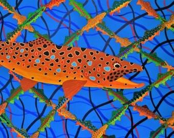 Trout Net  - Fine Giclee Print
