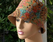 Womens Chemo Hats Cancer Cap Hat Hair Loss Hats Alopecia Hat Made in the USA. MEDIUM