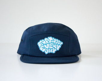 Earth Day Every Day Hat / 5 Panel Cap / Five Panel Hat / Embroidered / Patch / Navy