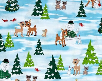 Fun with Rudolph Scenic Multi from Quilting Treasure's Rudolph the Red Nose Reindeer - Fun with Rudolph Collection