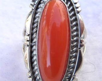 NATURAL ANGELSKIN CORAL Ring   # 1118-w
