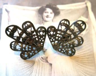 Antique vintage filigree earrings