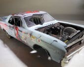 Scale Model Car,Rusted Wreck,Classicwrecks,Chevelle SS,Rat Rod,Assembled Model