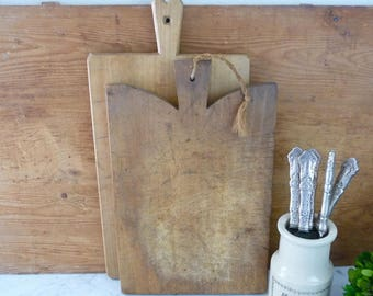Vintage French Cutting Board, Chopping Block, Vintage Cheese Board, France French Country Cottage Kitchen