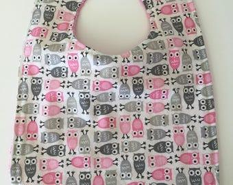 Owls- Towel Bib/Toddler Bib/Baby Bib/ Infant Bib