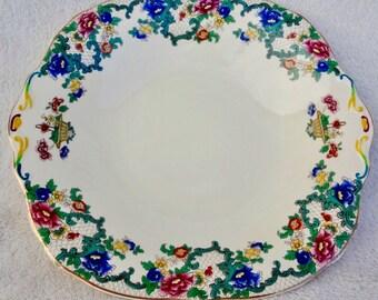 Vintage Royal Cauldon Victoria Handled Serving Plate