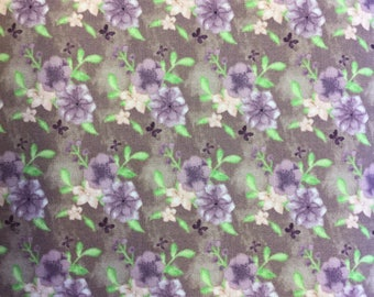 Fabric Freedom Water Colour Floral  FF167/2 in Lilac by the half metre
