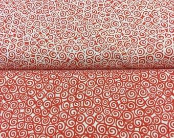 P&B Fabric  urban Scandinavian spirals 00365 in 2 colours By The Half Metre