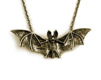 Vampire Bat Necklace - Halloween Jewelry by Weirdly Cute