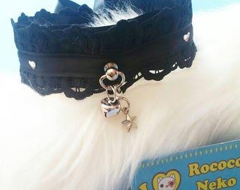 Heart Rhine Stone, Lace Luxery Collar