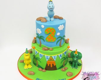 Baby Dinosaur Cake Topper Set