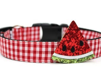 Dog Accessory Summer Dog Collar Add-on Watermelon