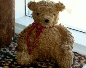 Primitive Pudgy Bear ~ rag stuffed