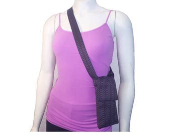 Convertible Cell Phone and Exercise Purse w/ Detachable Belt - Large Smartphones