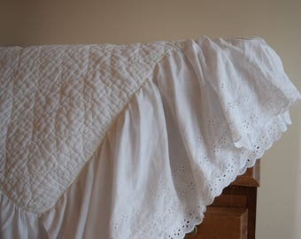 White Bedding Etsy