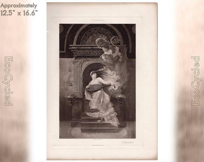 Inspiration by EH Blashfield Edwin Blashfield Antique Photogravure Print Goupil Vintage Paper Ephemera ready to frame antique art zG14