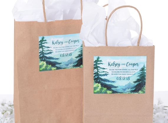 Wedding Welcome Favor Bags - 25 Out of Town Welcome Bags - Hotel ...