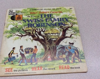Walt Disney's Story of The Swiss Family Robinson Book and Record