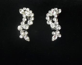 Vintage 1930's Marquise & Round Cut Rhinestone Pot Metal Shoe Clips Gift For Her on Etsy