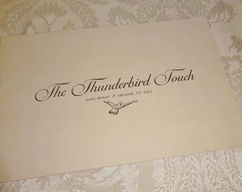 "Vintage Thunderbird Sales Brochure 1961 Ford Thunderbird Dealer Brochure ""The Thunderbird Touch"""