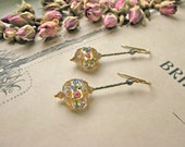 Pompadour La Favorite vintage murano earrings