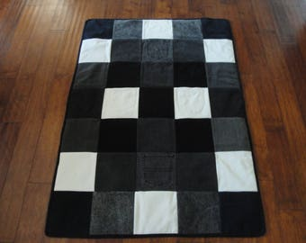 Blue/Black Jean Denim Quilt