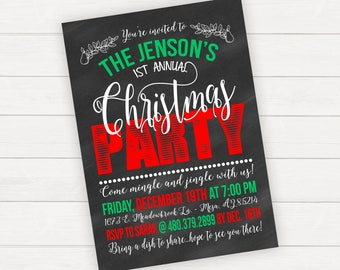 Christmas Party Invitations Christmas Party Invite Holiday Party Invitation Holiday Party Invite Christmas Invitations Holiday Invitations