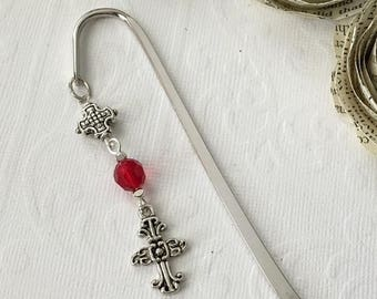 ON SALE  / Cross Bookmark, Useful Gift, Religious Gift, Christian Gift, Healing, Get Well, Thank You, Retirement, Graduation, Confirmation