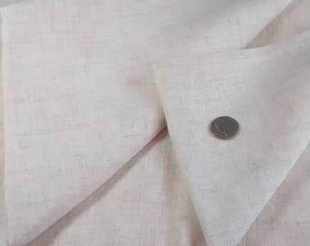 Vintage Oatmeal Poly/Cotton Linen Fabric