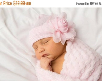 SALE 25% OFF BABY Girl Hat, newborn hospital hat, newborn girl hat, hospital newborn hat, newborn hat, infant hat, baby hat, baby bow