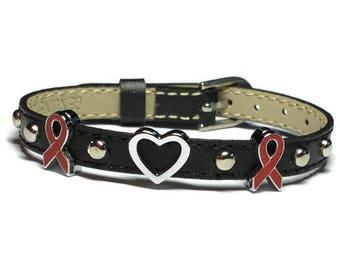 Substance Abuse Awareness Bracelet, Stop Drug Abuse Awareness Bracelet, Heart Disease Awareness Bracelet, AIDS HIV Awareness Bracelet