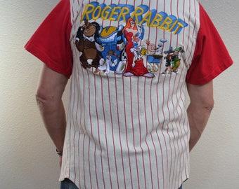 Vintage 1986 Roger Rabbit Baseball Club Jersey Shirt The Disney store Rare Vintage Who Framed Roger size Small
