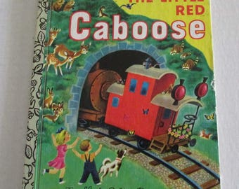 Vintage The Little Red Caboose Little Golden Book Marian Potter, Tibor Gergely 1953
