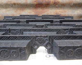 Price per Handle Antique Cast Iron Drawer Pull Ornate Vintage Black Victorian Old Architectual Vintage Hardware Cabinet Pulls Drawer Handle