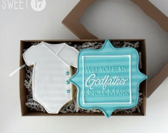 Custom Will you be my Godfather? Sugar Cookies Box Set