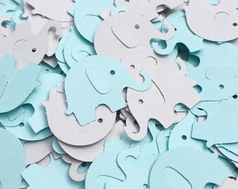 Elephant Confetti, Blue and Gray Elephant Baby Shower Confetti, Gray Elephant Confetti, Elephant Baby Shower Baby Boy