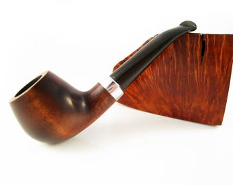 New Set Mini Pipe and Stand, Tobacco Pipe Smoking Pipe/Pipes of Pear Root 4.9'' Smoking Pipe-Wood Pipe - Best Offer