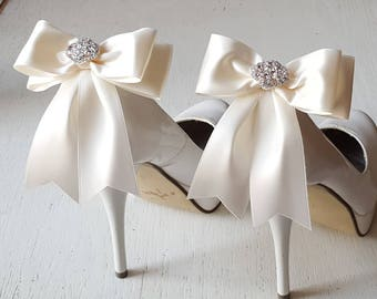 Shoe Clips, Bridal Shoes Clips, Rhinestone Shoe Clips, MANY COLORS, Bow Shoe Clips, Clips for Wedding Shoes, Bridal Shoes, Shoe Jewelry